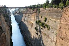 Korinth-Kanal, Griechenland lizenzfreies stockfoto