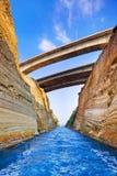 Korinth-Kanal in Griechenland Stockfoto