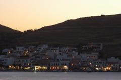 Korissia at Dusk. The port of Korissia on the Greek island of Kea at dusk Royalty Free Stock Photos