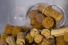 korków czara wino Obrazy Royalty Free