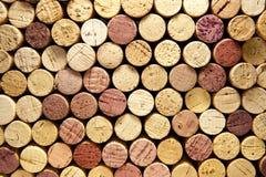 korków horyzontalny sterty wino Obrazy Stock
