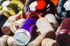 korków menu opci wino Zdjęcia Royalty Free