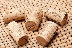 Kork av en wineflaska Arkivbilder