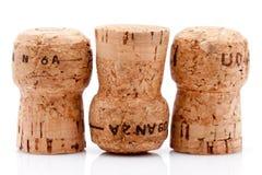 Kork av en wineflaska Arkivfoto