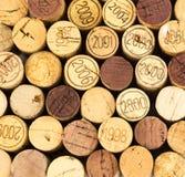 Korkar för franskt vin Fotografering för Bildbyråer