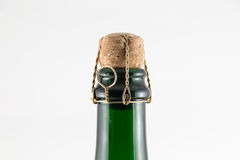 Korken in Chanpagne-Flasche lizenzfreie stockbilder