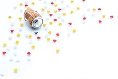 Korken - Stopper mit Herz Form, Feiervalentinstag lizenzfreies stockbild