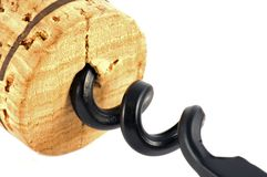 Korken und Korkenzieher Lizenzfreie Stockfotografie