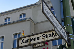 Korkenmann in Xantener Strasse in Berlin lizenzfreie stockfotos
