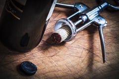 Korkenstopper des italienischen Weins Stockfotografie