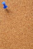 Korkenvorstand mit blauem Stift Stockfoto