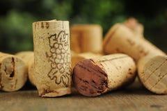 Korkenwein Stockfoto