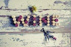 Korkenwein stockfotos
