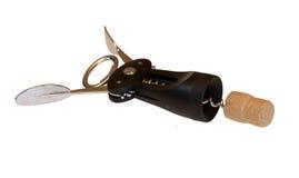 Korkenzieher mit Korken Lizenzfreies Stockbild