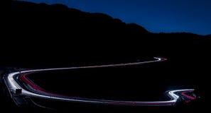 Korki na głównych roads&Vehicle drogach i światłach Obraz Stock
