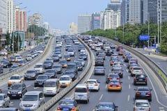 Korki na Pieniężnej ulicie, Pekin, Chiny Zdjęcie Stock