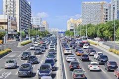 Korki na Pieniężnej ulicie, Pekin, Chiny Zdjęcia Royalty Free