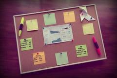 Korkowa deska dla biznesowego planowania, dystrybucja biznesowi pomysły zdjęcie royalty free