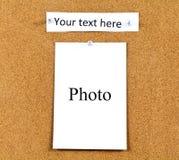 Korkowa deska z kartami Zdjęcie Stock