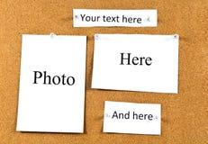 Korkowa deska z kartami Obraz Stock