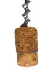 korkowy butelki corkscrew Zdjęcia Royalty Free