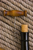 korkowy butelki corkscrew Zdjęcia Stock