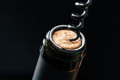Korkowy butelki wino Obrazy Royalty Free