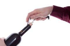 korkowy corkscrew Zdjęcia Royalty Free