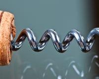korkowy corkscrew szkła stół Obrazy Stock
