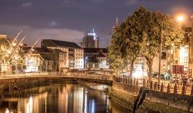 Korkowy miasto Przy nocą Zdjęcie Stock