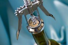 korkowy otwarcia śruby wino Zdjęcie Stock