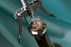 korkowy otwarcia śruby wino Fotografia Stock