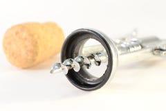 korkowy szampana corkscrew Obrazy Stock