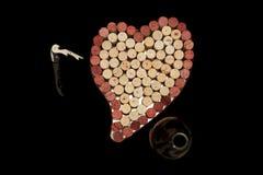 korkowy tła serce Zdjęcie Stock