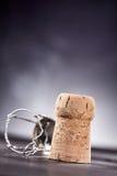 Korkowy wierzchołek na powierzchni przy kątem Fotografia Royalty Free