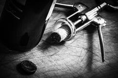 Korkpropp av italienskt vin Fotografering för Bildbyråer
