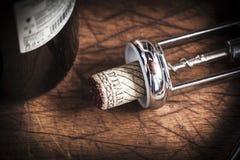 Korkpropp av italienskt vin Arkivfoto