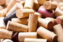korkuje różnorodnego wino Fotografia Stock