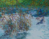 Kormoran, der vom Wasser sich entfernt Stockfotografie