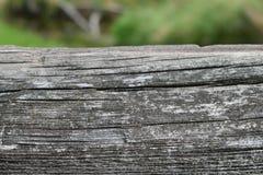 Korn-Detail des verwitterten Brücken-Bauholzes Stockbild