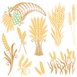 Korn havre, bageri royaltyfri illustrationer
