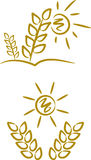 korn mig symbolssommarsymboler Arkivbild