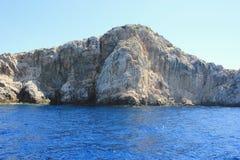 Kornati岩质小岛,达尔马提亚,克罗地亚 免版税库存照片