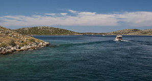 Kornati. CROATIA - CIRCA JULY 2012: sailing is the best way to explore  circa July 2012 in Royalty Free Stock Photo