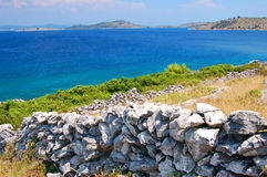 Picturesque scenic view of adriatic beach on korna Royalty Free Stock Images