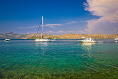Kornati islands national park yachting view Stock Photo