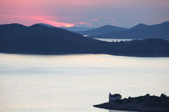 Kornati Islands at sunset Royalty Free Stock Image