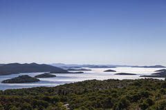 Kornati parka narodowego wyspy, archipelag w Dalmatia, Chorwacja fotografia stock