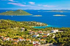 Kornati wysp parka narodowego widok od Drage Obraz Royalty Free