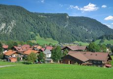 Kornau, parte di Oberstdorf in Allgau, Baviera, Germania Fotografia Stock